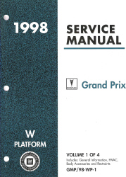 1998 Pontiac Grand Prix (W Platform) Service Manual - 4 Volume Set