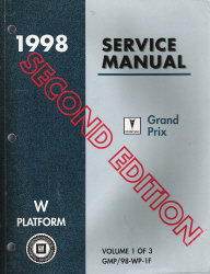 1998 Pontiac Grand Prix (W Platform) Service Manual - 3 Volume Set - Second Edition