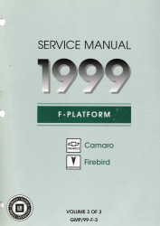 1999 Chevrolet Camaro & Pontiac Firebird Factory Service Manual - 3 Volume Set