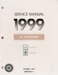 1999 Oldsmobile Aurora, Buick Riviera Factory Service Manual- 3 Volume Set