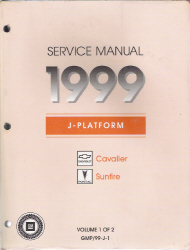 1999 Pontiac Sunfire & Chevrolet Cavalier Factory Service Manual - 2 Volume Set