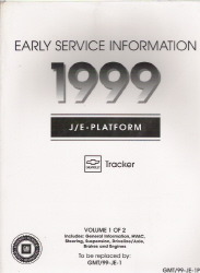 1999 Chevrolet Tracker Factory Early Service Manual - 2 Volume Set
