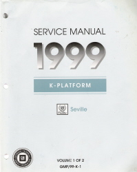 1999 Cadillac Seville Factory Service Manual