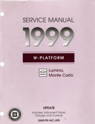 1999 Chevrolet Lumina & Monte Carlo Factory Service Manual Update