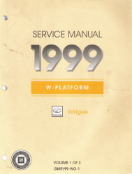 1999 Oldsmobile Intrigue Factory Service Manual
