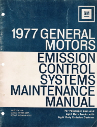 1977 General Motors Emission control System Maintenance Manual