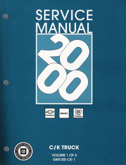2000 Chevrolet & GMC Old Style CK Sierra, Silverado, Tahoe, Z71, Denali, Escalade  Factory Service Manual - 4 Volume Set
