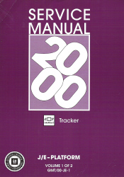 2000 Chevrolet Tracker Factory Service Manual