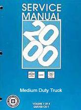 2000 Chevrolet, GMC Medium Duty 530 C6500 thru C8500 Truck (MD-Platform) Service Manual - 2 Volume Set