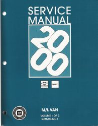 2000 Chevrolet / GMC M/L Vans: Astro & Safari Factory Service Manual - 2 Volume Set