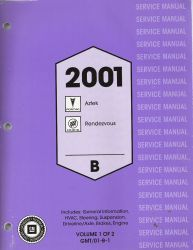 2001 Pontiac Aztek & Buick Rendezvous Factory Service Manual - 2 Volume Set