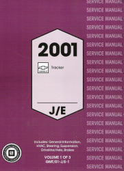 2001 Chevrolet Tracker Factory Service Manual