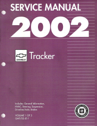 2002 Chevrolet Tracker Factory Service Manual