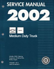 2002 Chevrolet, GMC Medium Duty Truck B7-Chassis Factory Service Manual - 2 Volume Set