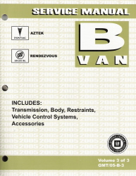 2005 Pontiac Aztek & Buick Rendezvous Factory Service Manual - 3 Volume Set