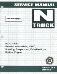 2005 Hummer H2 Factory Service Manual - 2 Volume Set