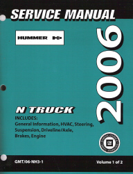 2006 Hummer H3 Factory Service Manual - 2 Volume Set