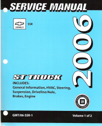 2006 Chevrolet SSR Truck Factory Service Manual - 2 Volume Set