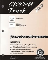 2007 Chevrolet Silverado New Style, GMC Sierra, Sierra Denali New Style Factory Service Manual - 4 Volume Set
