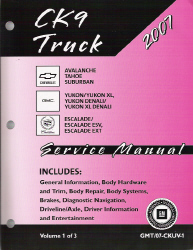 2007 Chevrolet Avalanche, Surburban,Tahoe, GMC Yukon, Denali & Cadillac Escalade Factory Service Manual - 3 Volume Set