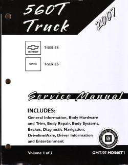 2007 Chevrolet, GMC 560 T-Series Medium Duty (MD-Platform) Factory Service Manual - 2 Vol. Set