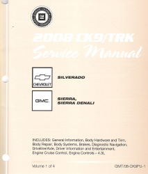 2008 Chevrolet Silverado, GMC Sierra/Sierra Denali Factory Service Manual - 4 Volume Set
