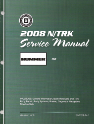 2008 Hummer H2 Factory Service Manual - 3 Volume Set