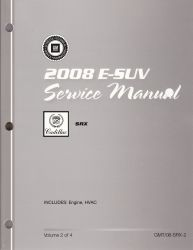 2008 Cadillac SRX  Factory Service Manual - 4 Volume Set