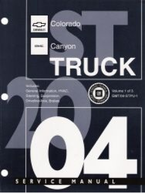 2008 Chevrolet Colorado & GMC Canyon Factory Service Manual