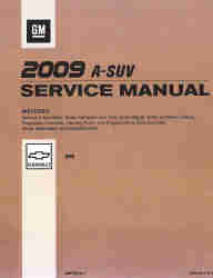 2009 Chevrolet HHR Factory Service Repair Workshop Manual, 3 Vol. Set