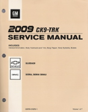 2009 Chevrolet Silverado, GMC Sierra / Sierra Denali Factory Service Manual - 7 Vol. Set