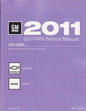 2011 Chevrolet Express & GMC Savana Factory Service Manua - 4 Volume Set