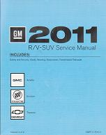 2011 Buick Enclave, Chevrolet Traverse & GMC Acadia Factory Service Manual