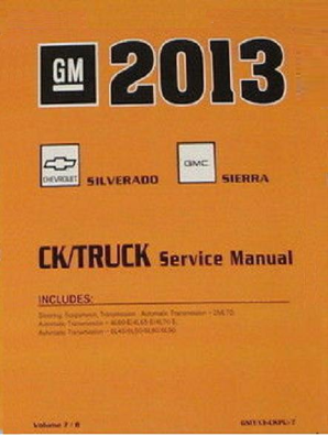 2013 Chevrolet Silverado & GMC Sierra Factory Service Manual - 8 Vol. Set
