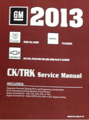 2013 Chevrolet Tahoe, Suburban, Avalanche, GMC Yukon & Cadillac Escalade Factory Service Manual- 5 Vol. Set