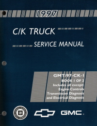 1997 Chevrolet GMC C/K Trucks Service Manual - 2 Volume Set