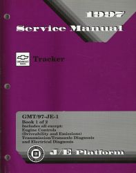 1997 Chevrolet Geo Tracker  Factory Service Manual  - 2 Volume Set