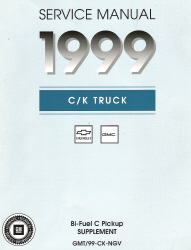 1999 Chevrolet GMC Factory Bi-Fuel C  Suppliment Pickup Truck Service Manual