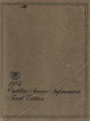 1986 Cadillac Service Information Manual