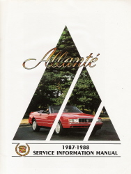 1987 - 1988 Cadillac Allante Factory Service Manual