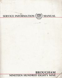 1989 Cadillac Brougham Service Information Manual