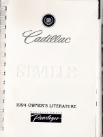 1994 Cadillac Seville Owner's Manual