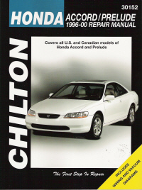 1996 - 2000 Honda Accord and Prelude Chilton's Total Car Care Manual