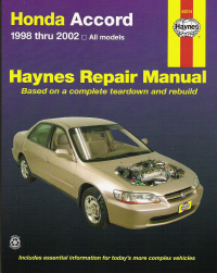 1998 - 2002 Honda Accord Haynes Repair Manual