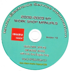 2008-2009 Isuzu N Series & GMC, Chevrolet W Series (6.0L Gas Only) Factory Workshop Manual on CD-ROM