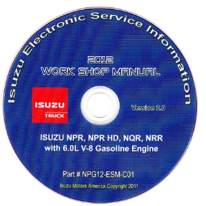 2012 Isuzu N Series (6.0L Gas Engine Only) Factory Workshop Manual on CD-ROM