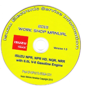 2013 Isuzu N Series (6.0L Gas Engine Only) Factory Workshop Manual on CD-ROM