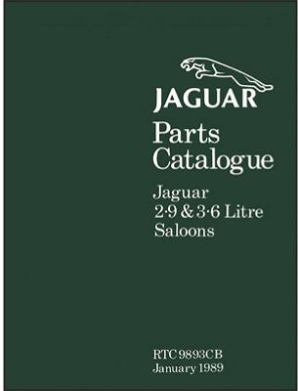 1988 - 1989 Jaguar XJ6 & XJ40, 2.9 & 3.6 Litre Saloons Official Parts Catalog