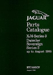 1979 - 1985 Jaguar XJ6 & Daimler Sovereign Series 3 Parts Catalog