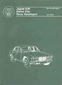 1969 - 1973 Jaguar XJ6 Series 1 Official Parts Catalog